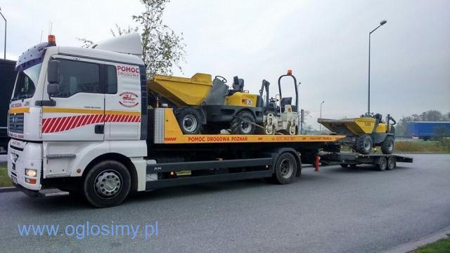 Transport Maszyn Budowlanych Laweta 24 Ton Poznań 604 999 084